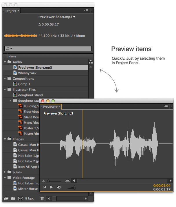 Previewer - Quickly Preview Footage Directly In After Effects