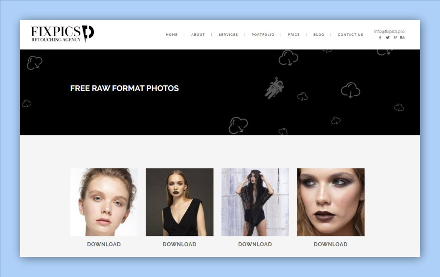 Fixpics free raw photos for retouching practice