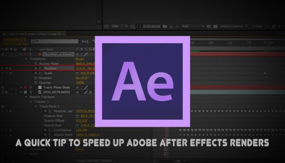 Quick Tip to Speed up Adobe After Effects Renders