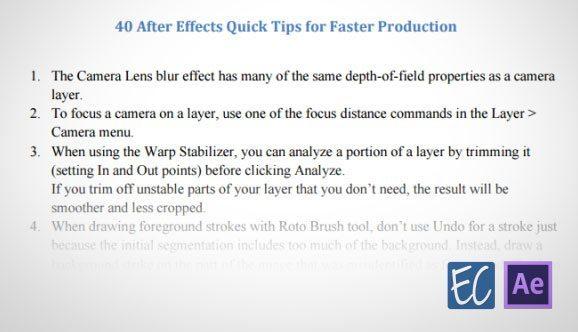 AE Quick Tips