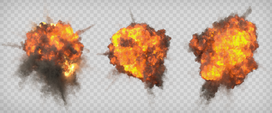 Aerial Explosions Alpha Channel