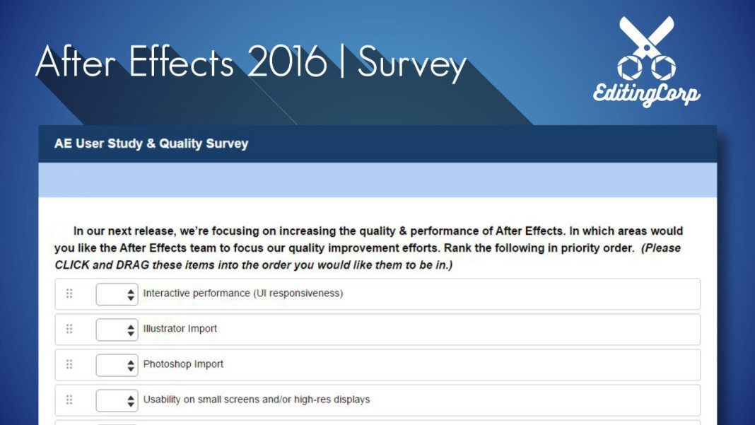 After Effects 2016 Survey
