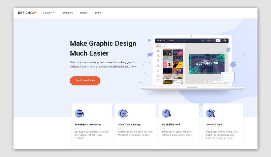 designcap homepage