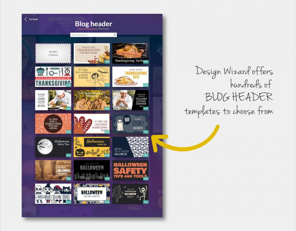 Design Wizard blog post images templates
