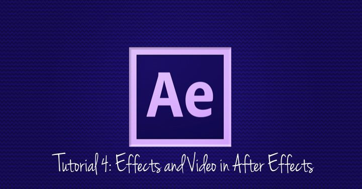 Effects and Video in After Effects