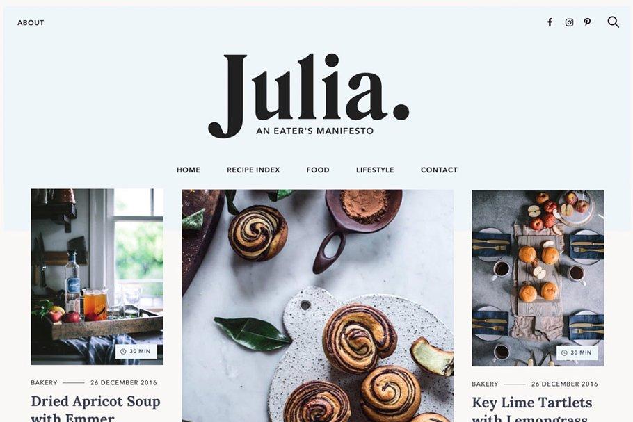 julia wordpress blog theme