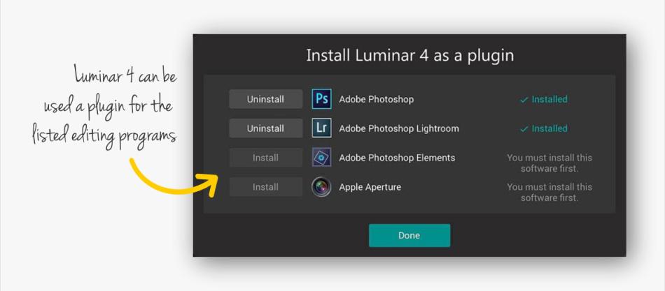 Luminar 4 as a plugin
