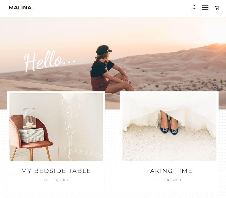 malina Feminine WordPress Theme