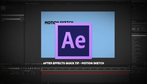 After Effects Motion Sketch