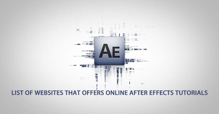Online After Effects Tutorials