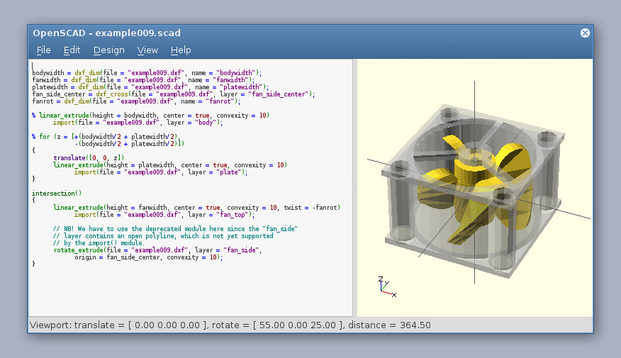 OpenScad 3D Printing Software