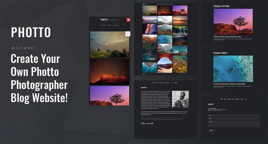 photography wordpress theme - photto