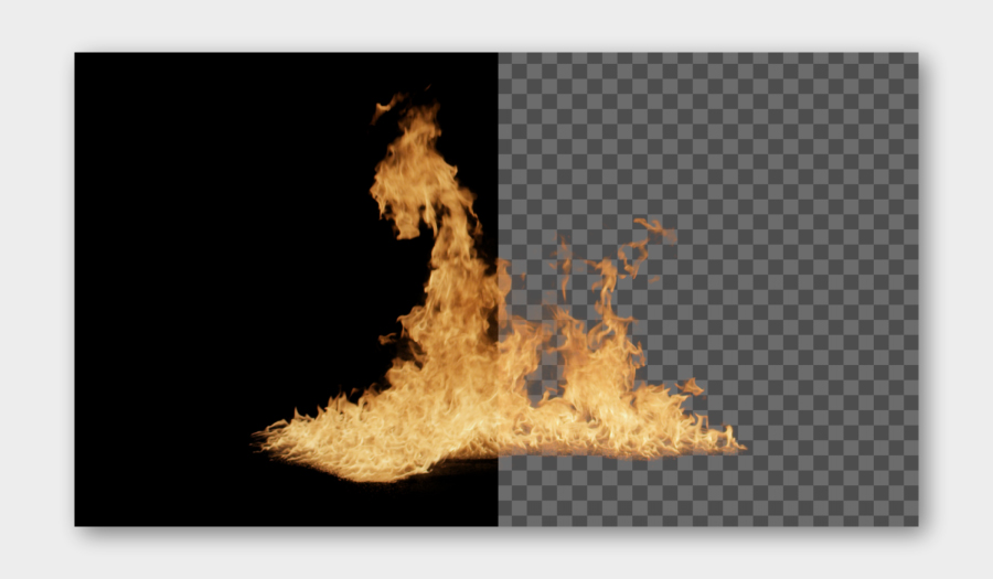Pre-Keyed Fire Stock Footage