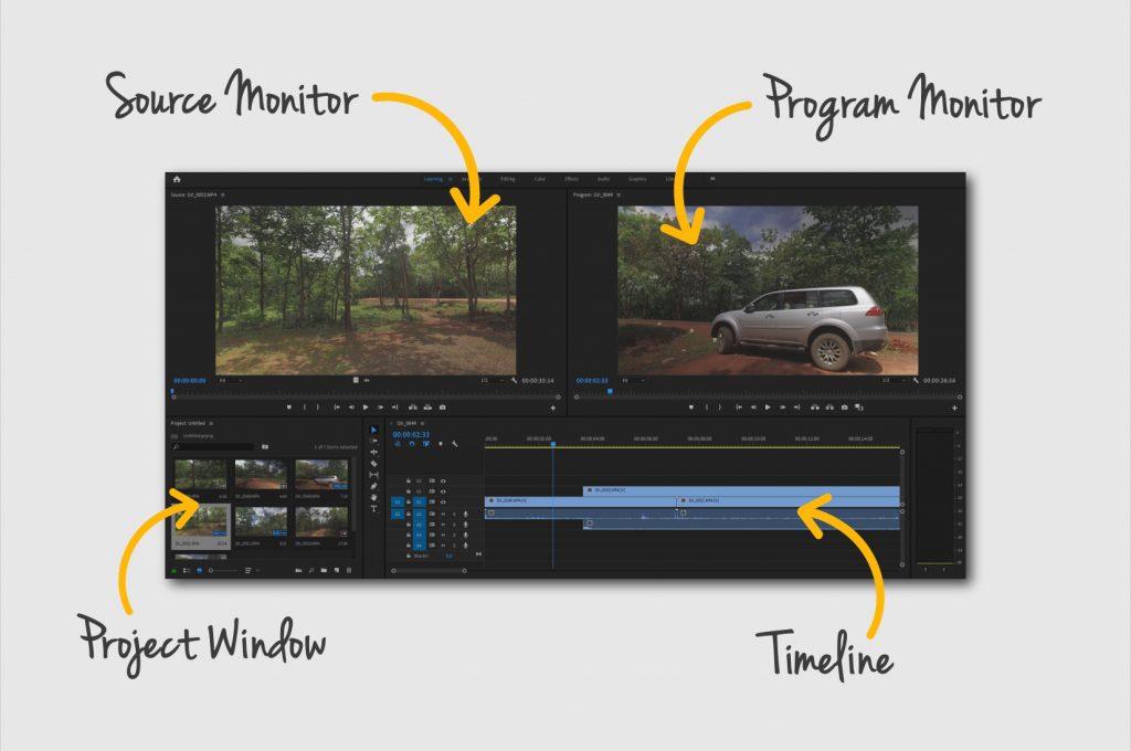 Premiere Pro user interface