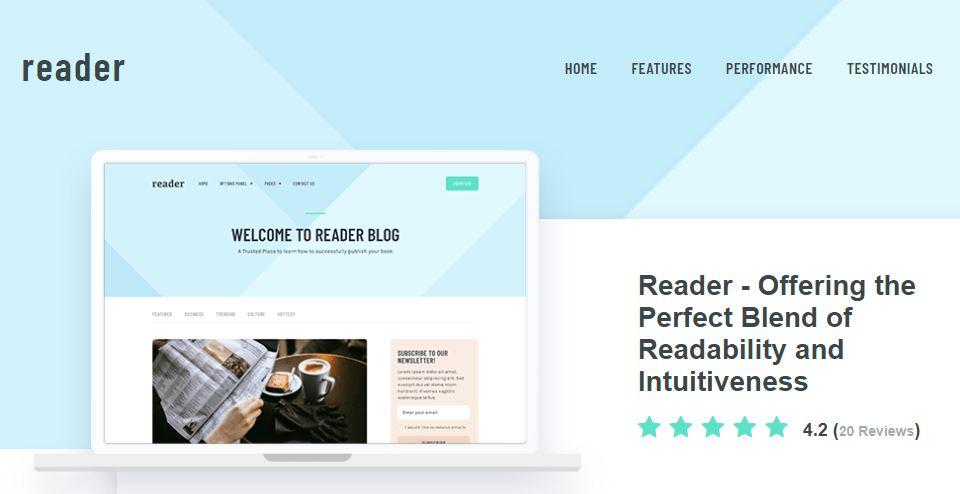 reader wordpress blog theme