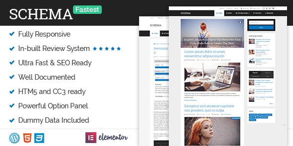 schema wordpress blog theme
