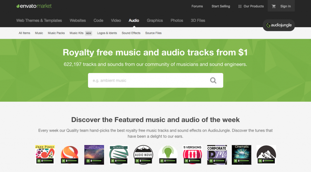 Audiojungle marketplace