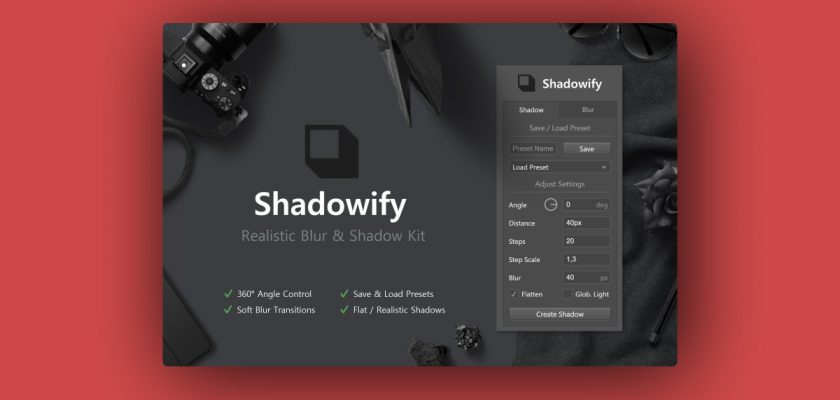 Shadowify Photoshop Plugni