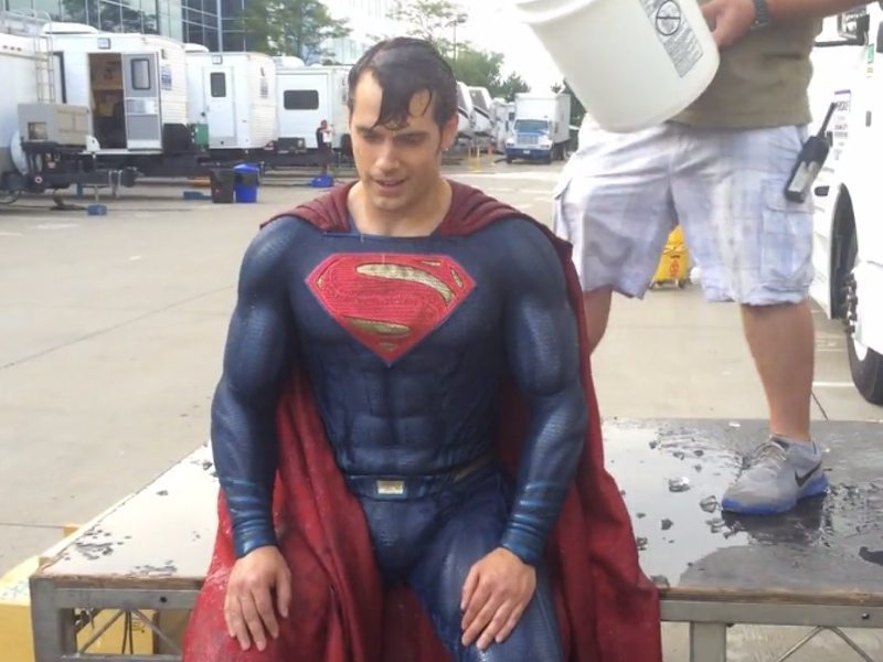 Superman ALS Ice Bucket challenge