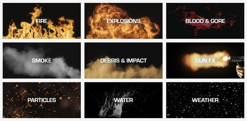 visual effects stock footage elements.