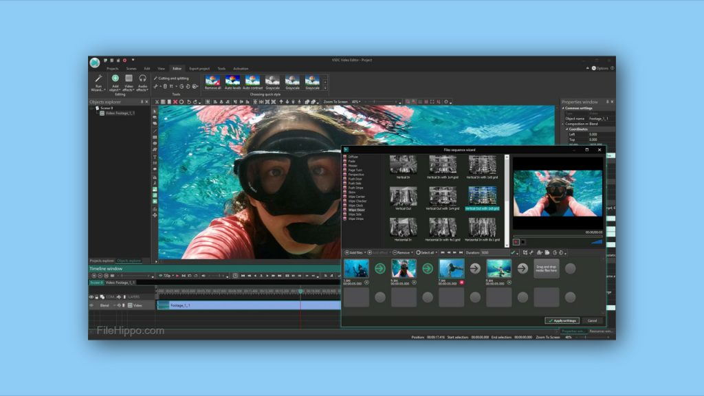 VSDC free video editing software