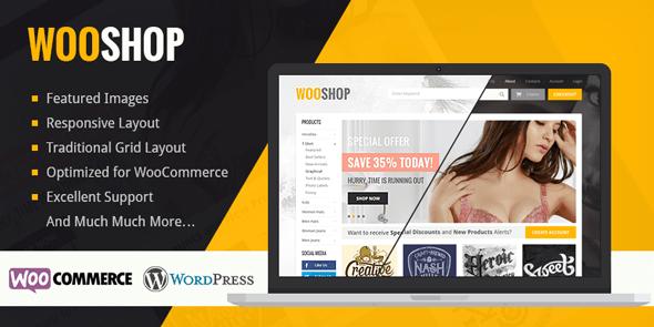 WordPress eCommerce Theme wooshop