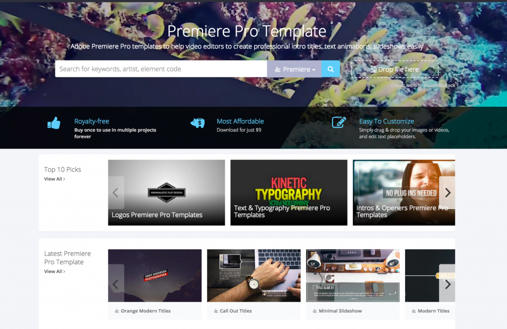 Adobe premiere pro templates launched by motionelements for Adobe premiere pro slideshow templates