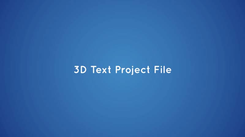 Create 3d Text In After Effects With This Free Project File