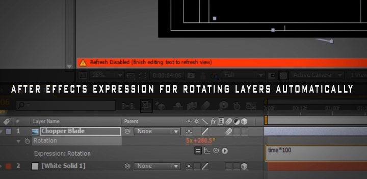 after effects exoression for rotation cover