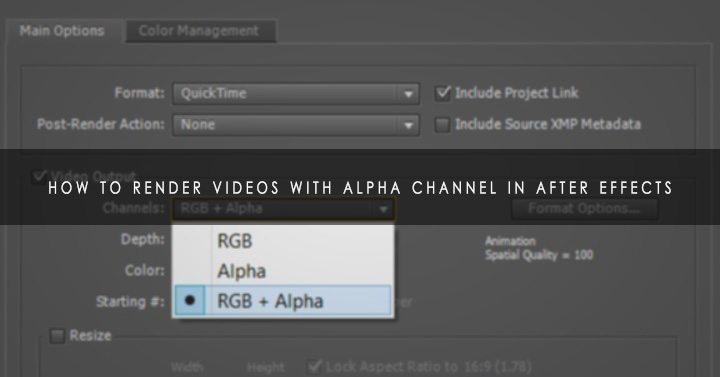 alpha channel after effects
