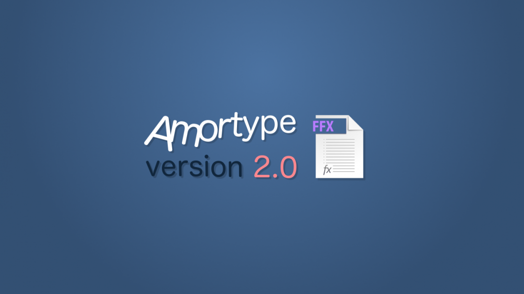 free after effects preset amortype