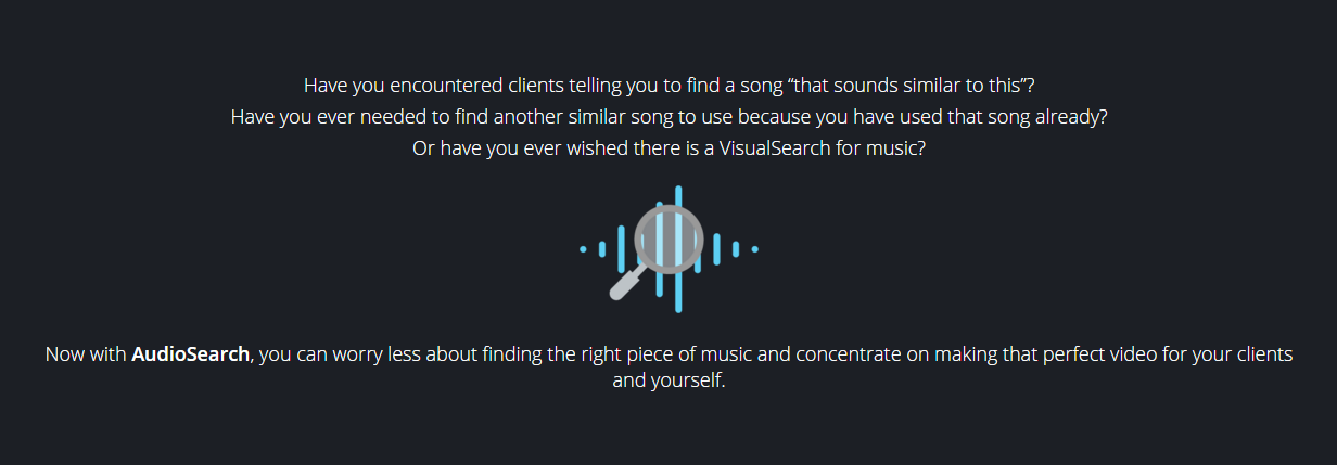 audiosearch - Find Audio Similar to your Existing Audio Files