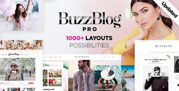 buzzblog wordpress blog theme