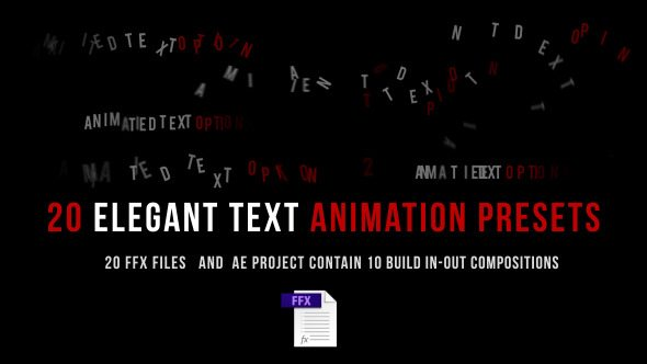 20 Elegant Text Animation Presets