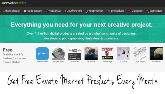 Free Envato Market Products Every Month