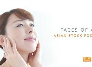 faces of asia stock footage