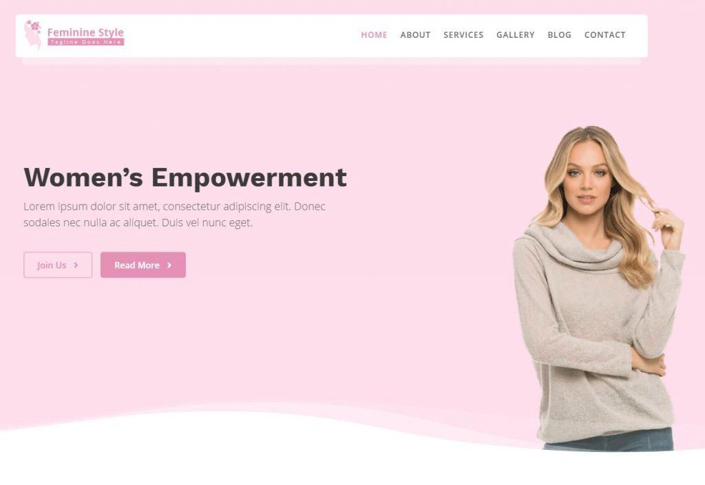 feminine style theme for female bloggers