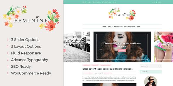 feminine wordpress blog theme
