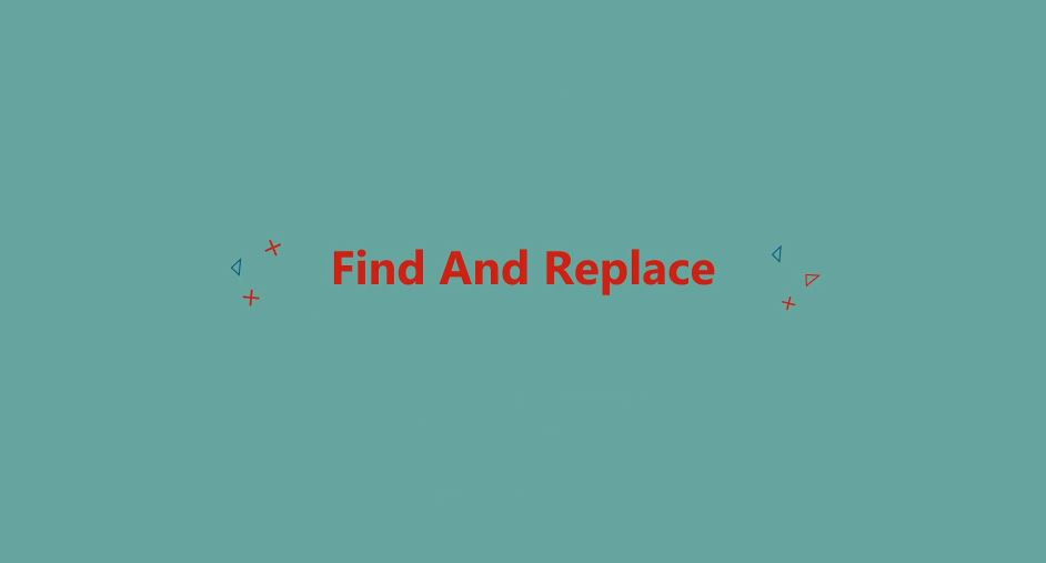 Find and replace After Effects Scripts