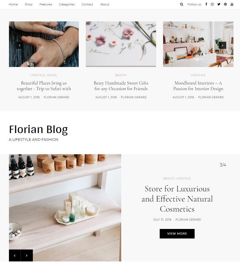 Florian Feminine WordPress Theme