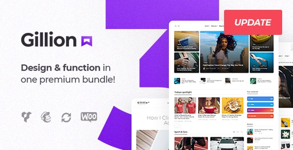 gillion wordpress blog theme