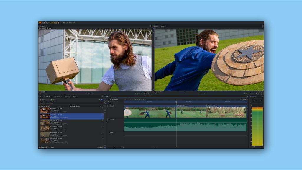 Hitfilm Express free video editing software