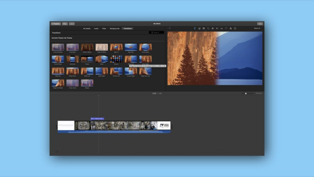 Apple iMovie free video editing software