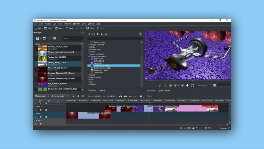 kdenlive free video editing software