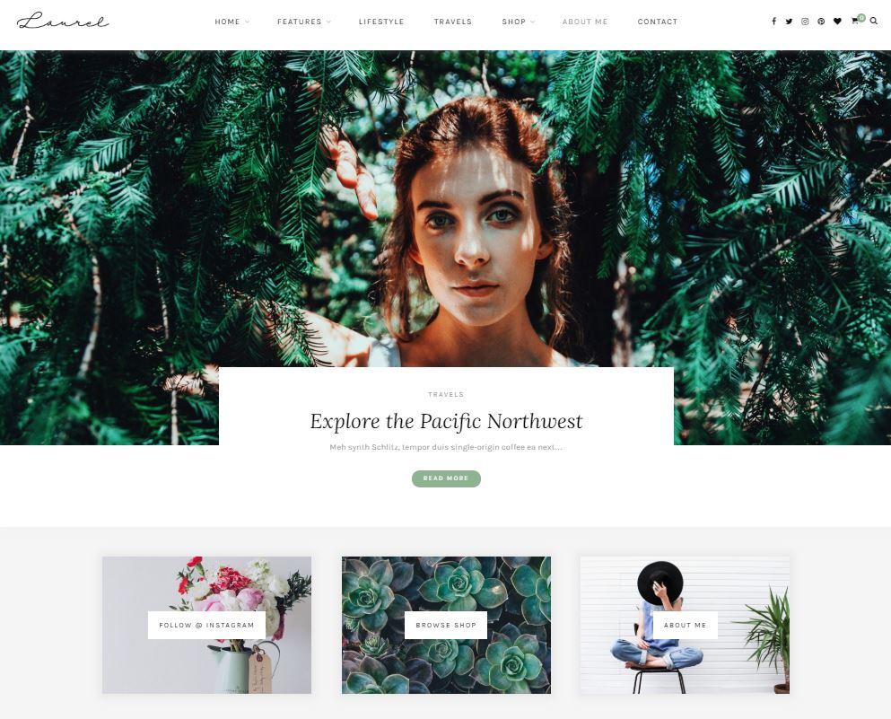 Laurel Feminine WordPress Theme