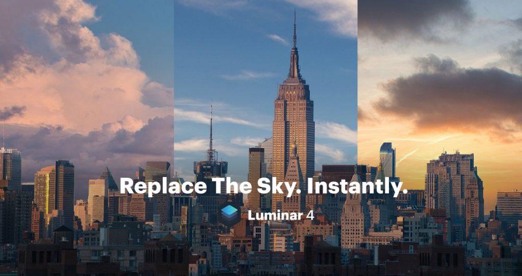 Luminar AI Sky replacement