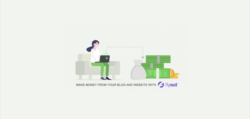 make money from your blog with flyout