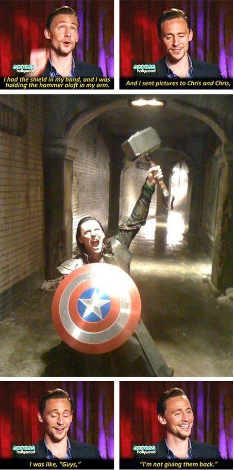 Loki picked up the mew mew