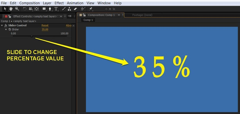 Create Percentage Counter in After Effects 5