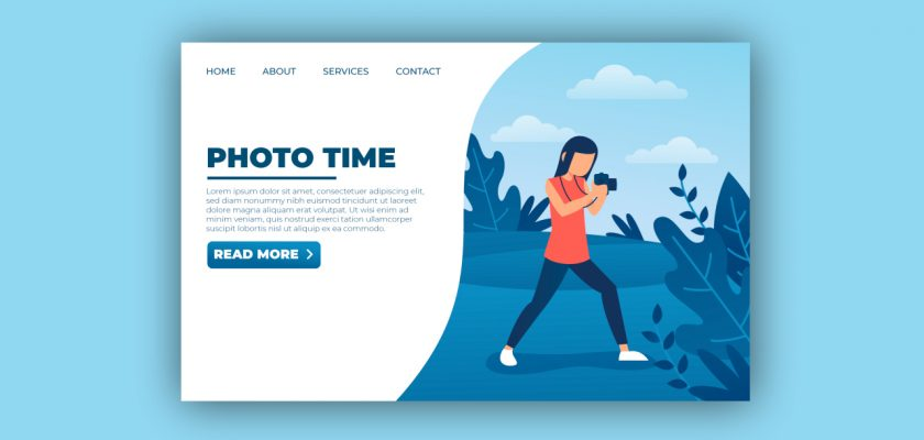 how to create photography website